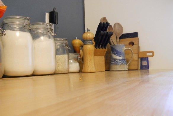 counter wood wax