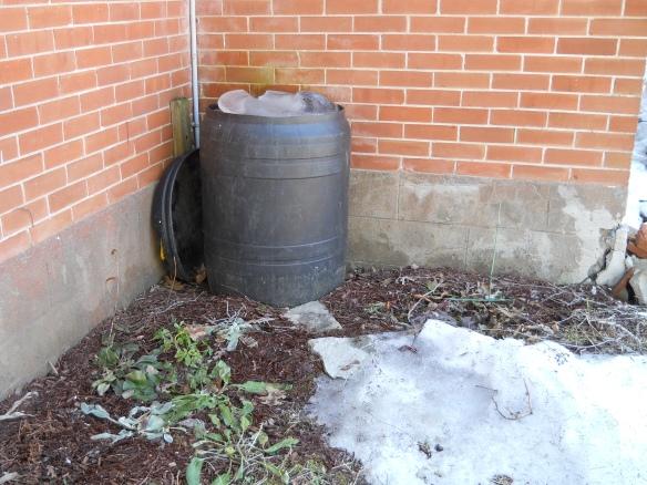 Frozen water barrel