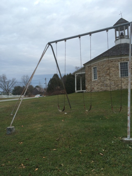 And a bit of a historic playground to go along with the schoolhouse!